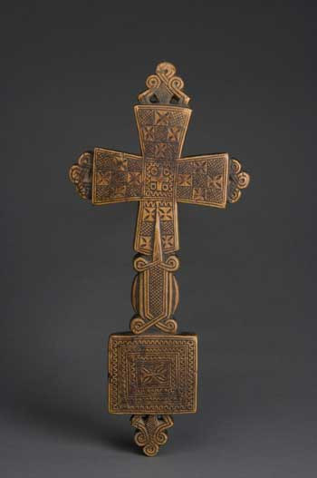 This 15th century cross has lobes filled with crosses