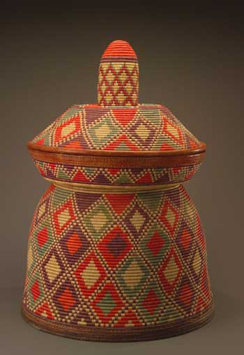 Ethiopia's finest basketry, including this example, 